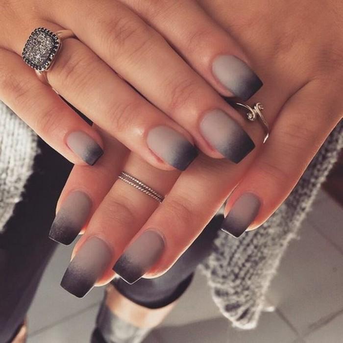 manucure-facile-ombre-en-gris-et-noirs-mat-ongles-longs