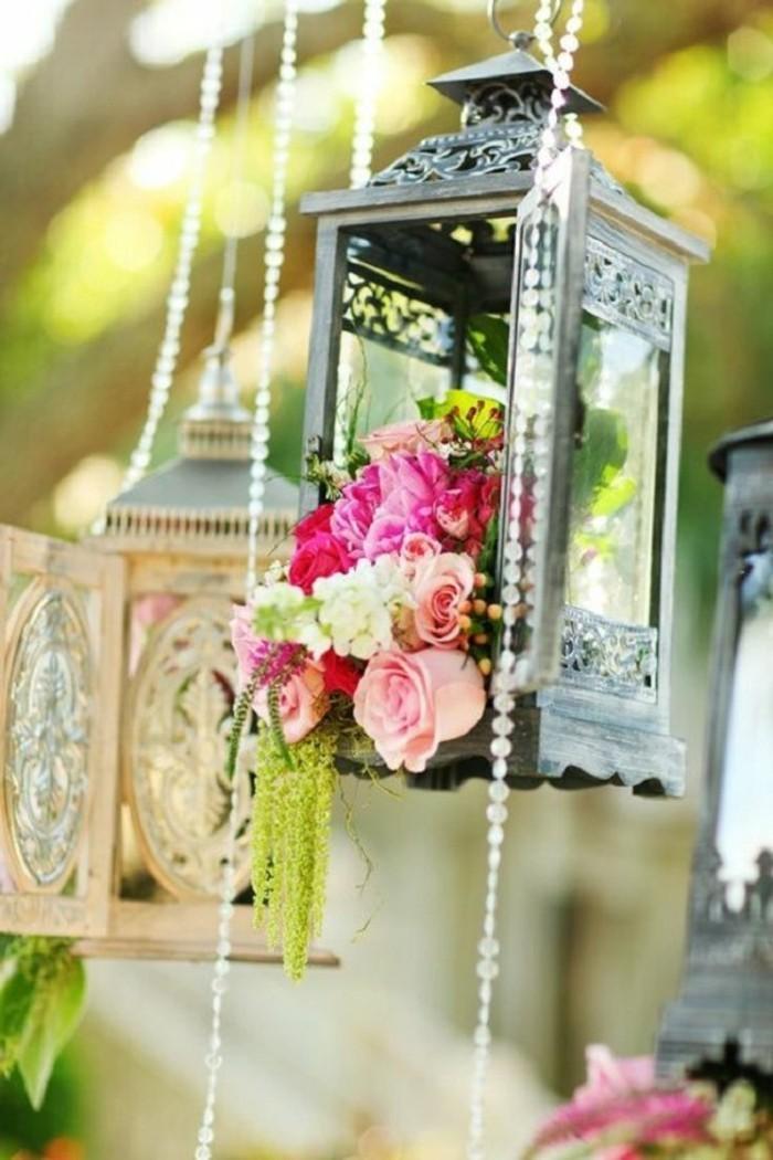 mariage-retro-chic-lanternes-perles-fleurs