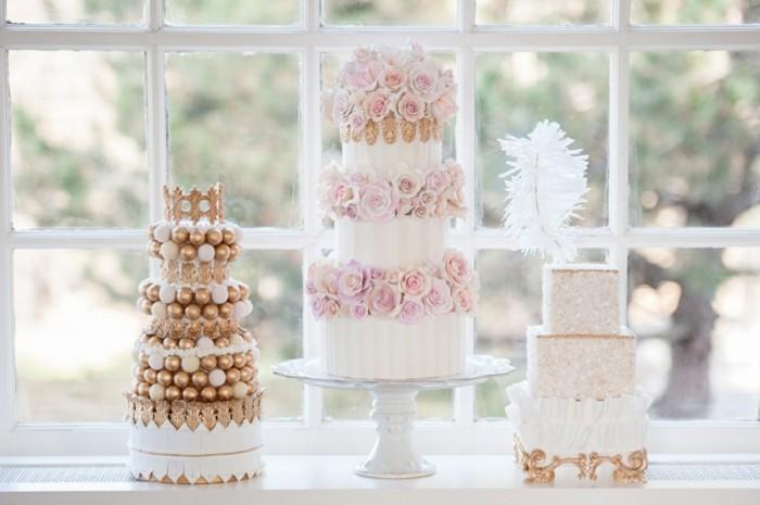 mariage-retro-chic-tartes-en-rose-et-or-plumes-et-boules-sucres