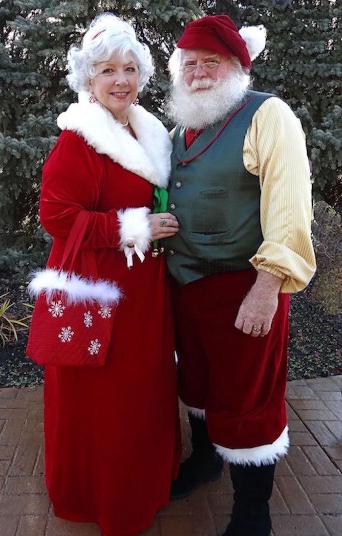 Costume p re no l le rouge et blanc sous toutes les - Pere et mere noel ...