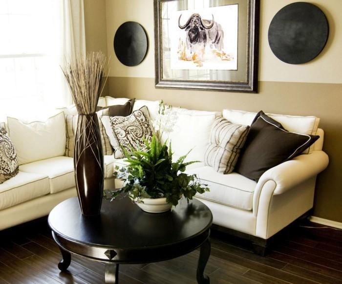 meuble-africain-photo-d-animal-sauvage-coussins-decoratifs