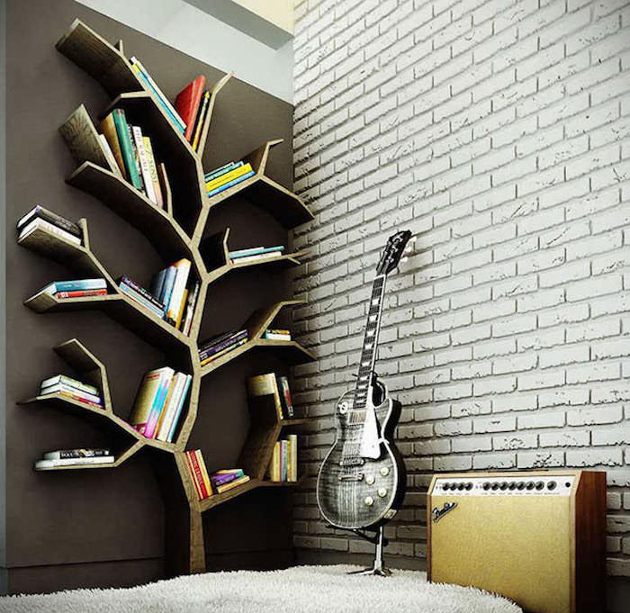 meuble-livres-colonne-rangement-design-forme-arbre-architecture-en-bois-originale