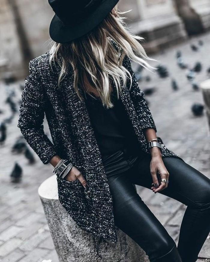 le manteau tweed fait son retour la grande tendance en 69 photos. Black Bedroom Furniture Sets. Home Design Ideas