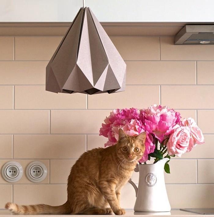modele-abat-jour-papier-origami-jaune-a-fabriquer-soi-meme-pour-la-cuisine