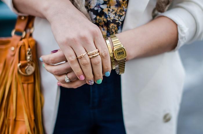 montre femme a la mode casio