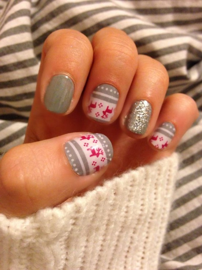 nail-art-rouge-et-blanc-deco-ongles-noel-ongle-deco-noel-stickers