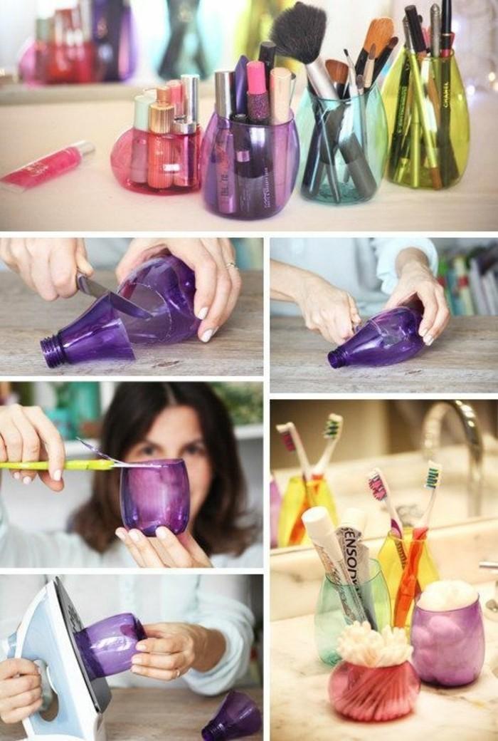 organisateur-maquillage-et-produits-de-soin-diy-recyclage-bouteille-plastique-smart