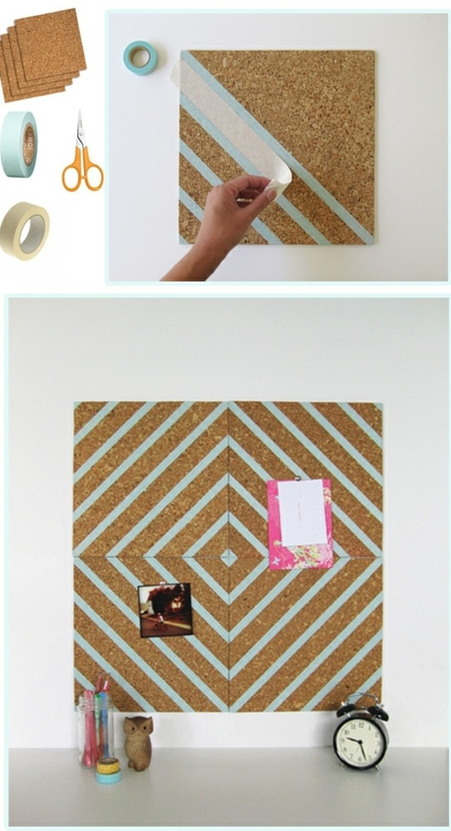 panneau-d-affichage-decore-du-ruban-adhesif-decoratif-pour-le-personnaliser-et-egayer