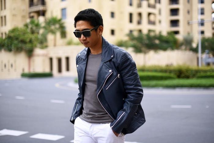 perfecto-homme-blouson-cuir-veste-en-jean-homme-blouson-hiver-simili-noir