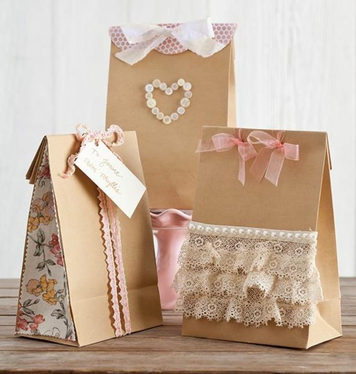 d corer un petit sachet kraft id es originales pour un sac cadeaux. Black Bedroom Furniture Sets. Home Design Ideas