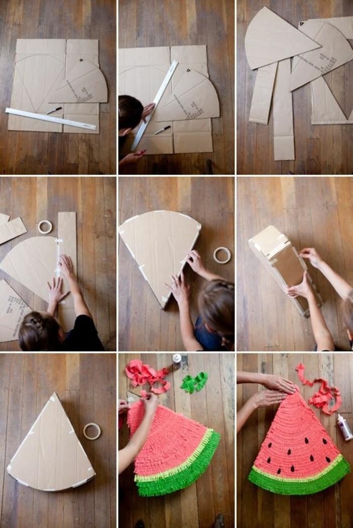 pinata-en-forme-de-morceau-de-pasteque-comment-faire-une-pinata-tutoriel-etape-pa-etape