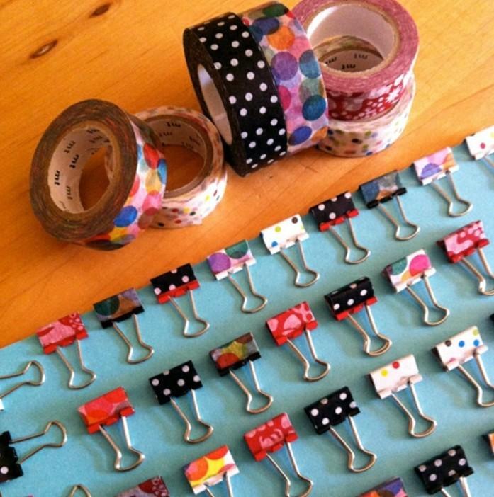 pinces-a-dessin-embellies-que-faire-avec-du-masking-tape-idee-magnifique-de-deco-masking-tape-a-faire-soi-meme