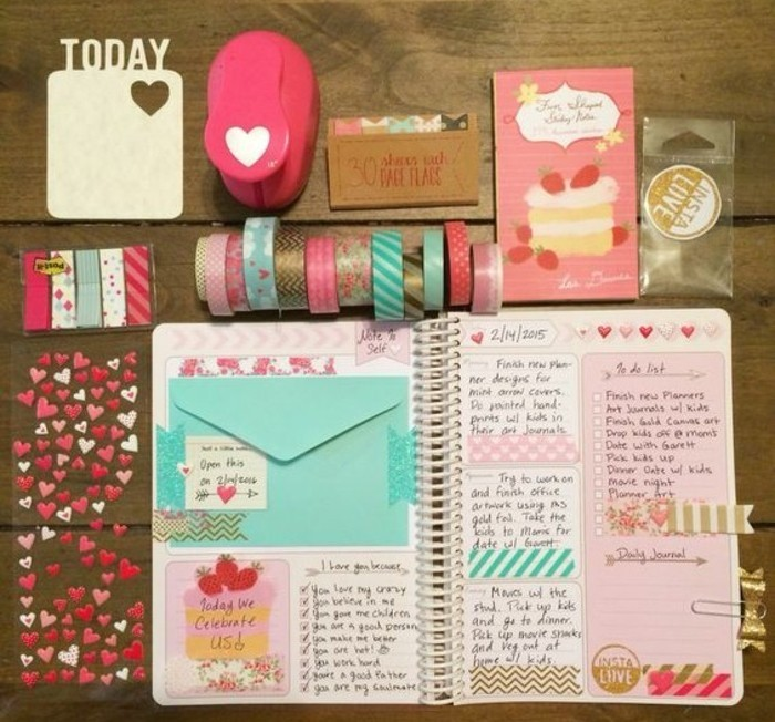 Comment organiser et customiser son agenda 62 id es diy for Photo comment ideas