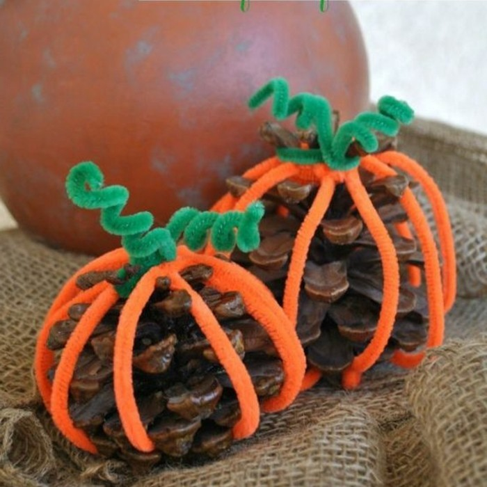 pomme-de-pin-citrouilles-de-halloween-originales
