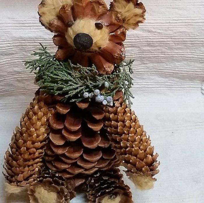 pomme-de-pin-ours-en-cones-idees-deco-de-noel-a-faire-avec-ses-mains