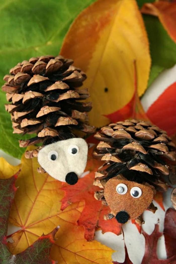 pommes-de-pin-herisson-jouets-de-noel-herissons-faciles-a-faire