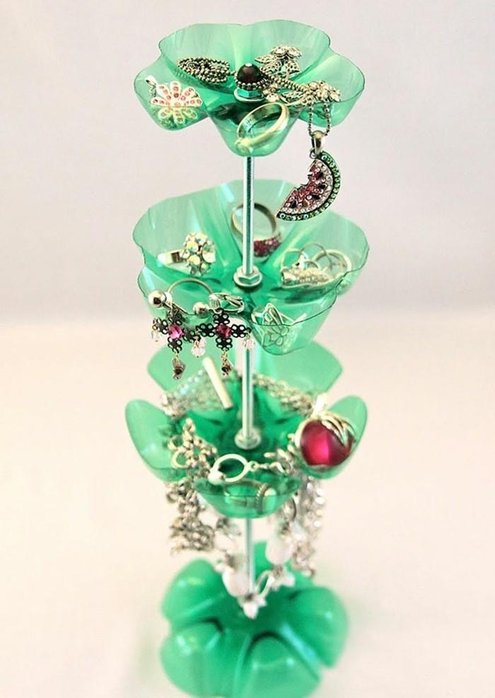 Que faire avec des bouteilles en plastique 54 super id es de reyclage - Fabriquer porte bijoux ...