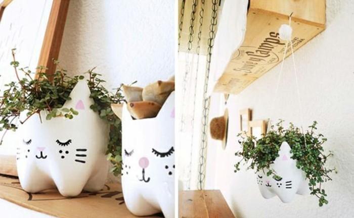 pots-de-fleurs-chat-suspendus-bouteille-plastique-recycle-pour-realiser-un-projet-diy