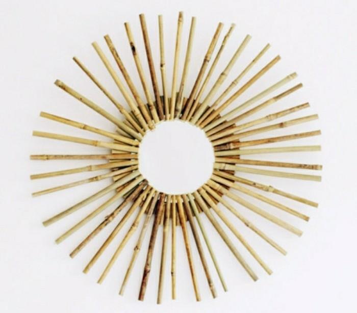 Que faire avec des bambous trouvailles exotiques en 60 for Miroir dans le salon