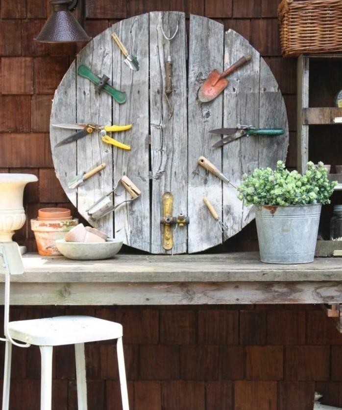 1001 id es que faire avec un touret des inspirations r cup for Meuble de rangement de jardin