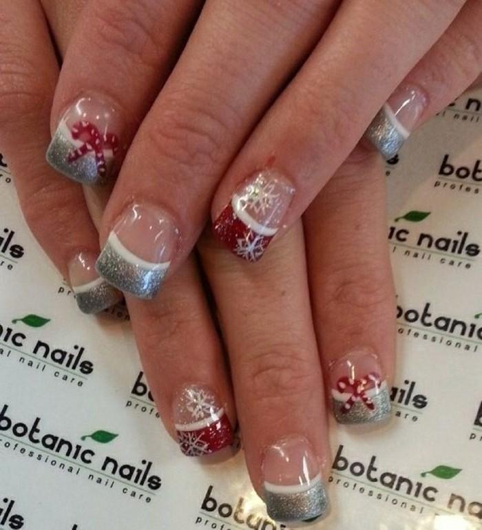 Belle idée nail art hiver ongles pour Noel et Nouvel An