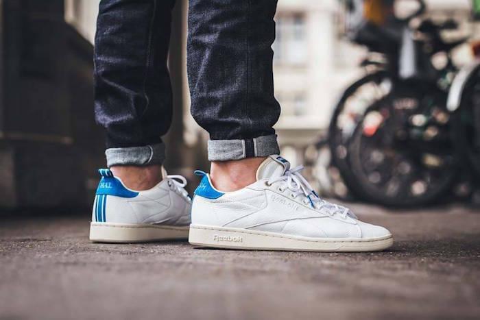 reebok-classic-npc-blanche-bleu-cuir-chaussures