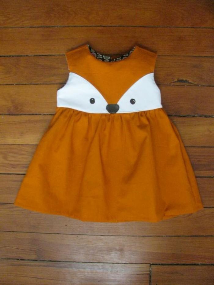 robe-fillette-couleur-ocre-yeux-de-renard-mode-enfats-originale