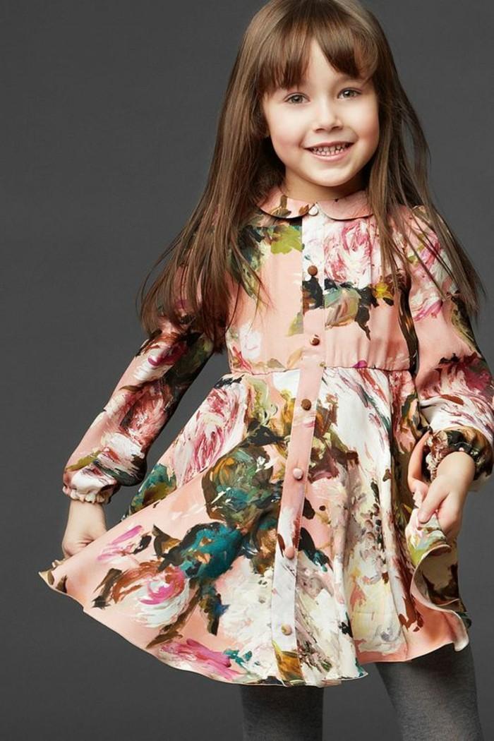 robe-fillette-florale-robe-corolle-en-rose-et-gris-col-peter-pan