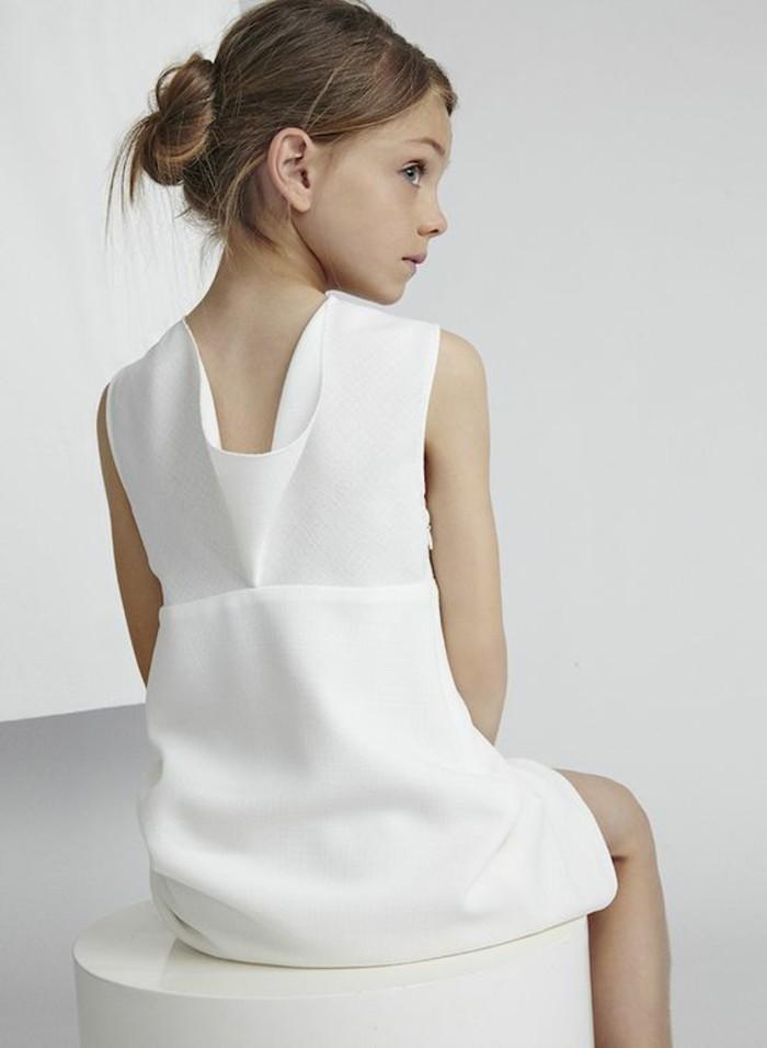 robe-petite-fille-robe-elegante-design-classique-robe-blanche