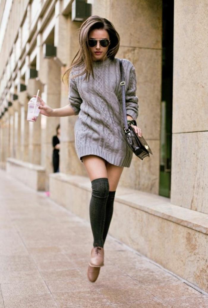 robe-pull-en-laine-chaussettes-montantes-derbies