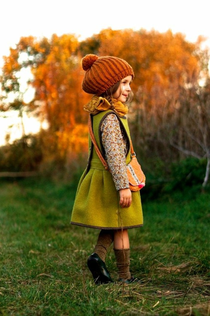 robes-filles-jolie-roe-verte-petite-fille-robe-pour-lhiver