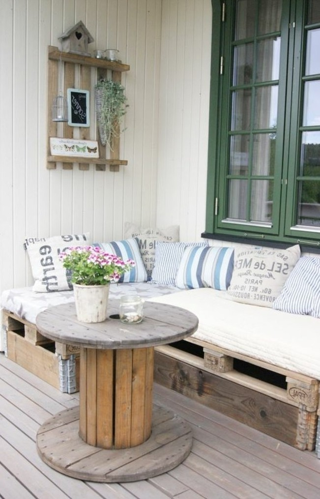 Faire une table basse de jardin for Table de salon avec palette