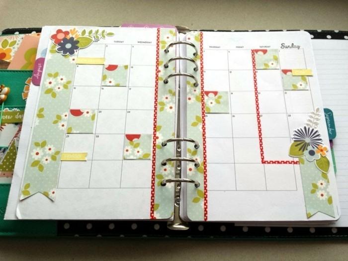 scrapbooking-pour-cusomiser-son-agenda-un-calendrier-mesnuel-des-evenements-a-venir