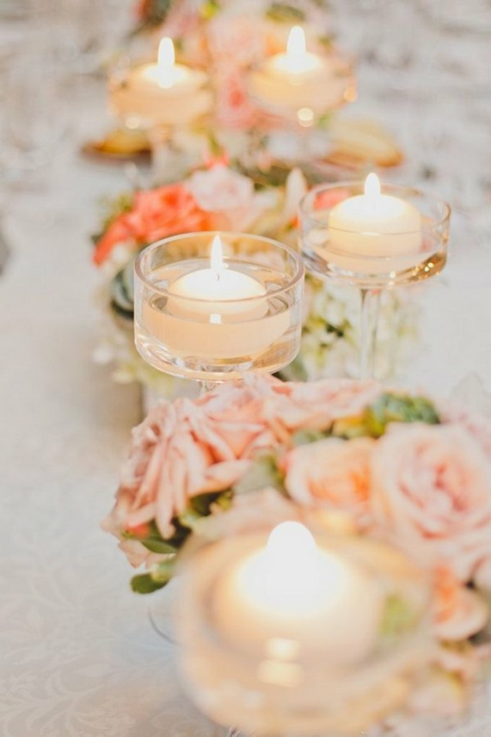 shabby-chic-mariage-bougies-couleurs-chaudes-roses-orange