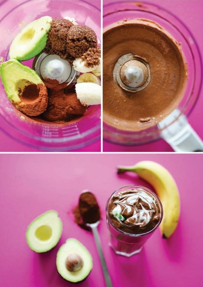 smoothie-dessert-idee-smoothie-au-chocolat-bananes-et-avocat