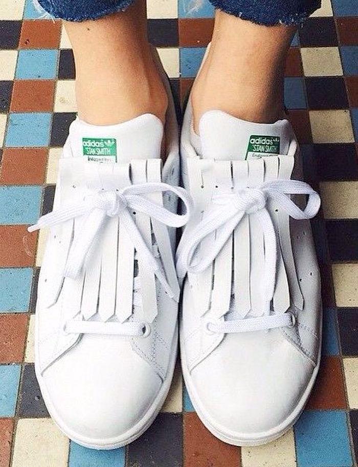 stan-smith-femme-adidas-originals-blanc-vert-franges-cuir-adidas-originals-smith