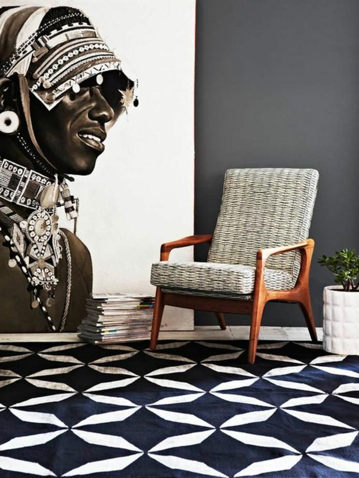 stickers-afrique-homme-de-tribu-magazines-fauteuil-en-bois