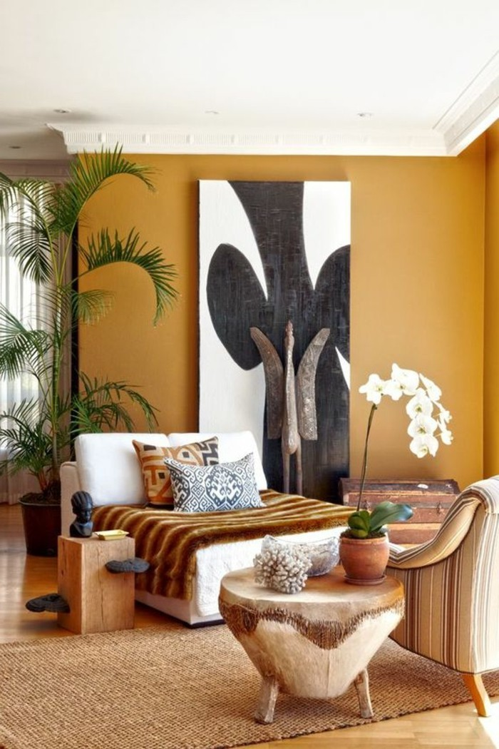 stickers-afrique-motifs-ethniques-coussins-decoratifs-plantes-coffre-meuble-en-cuir-et-en-bois