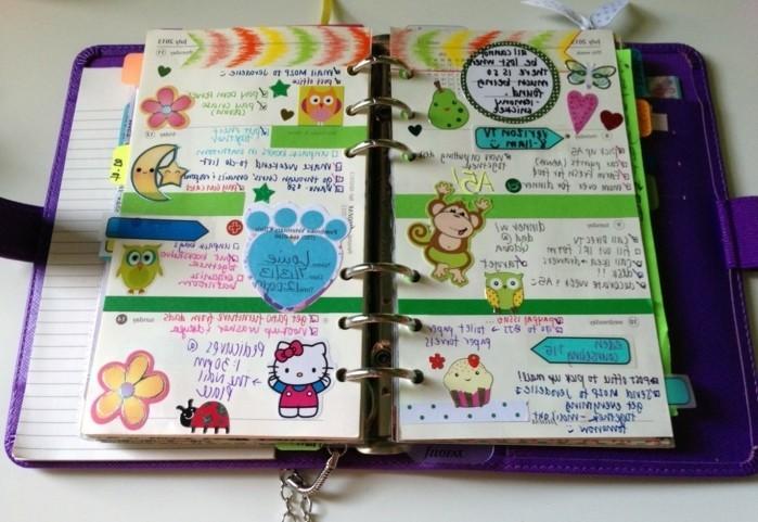 stickers-mignons-pour-customiser-son-agenda-un-bel-exemple-agenda-scolaire-personnalise