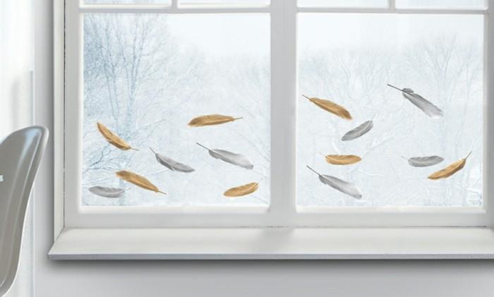sticker-pour-vitre-plumes-beiges-et-grises