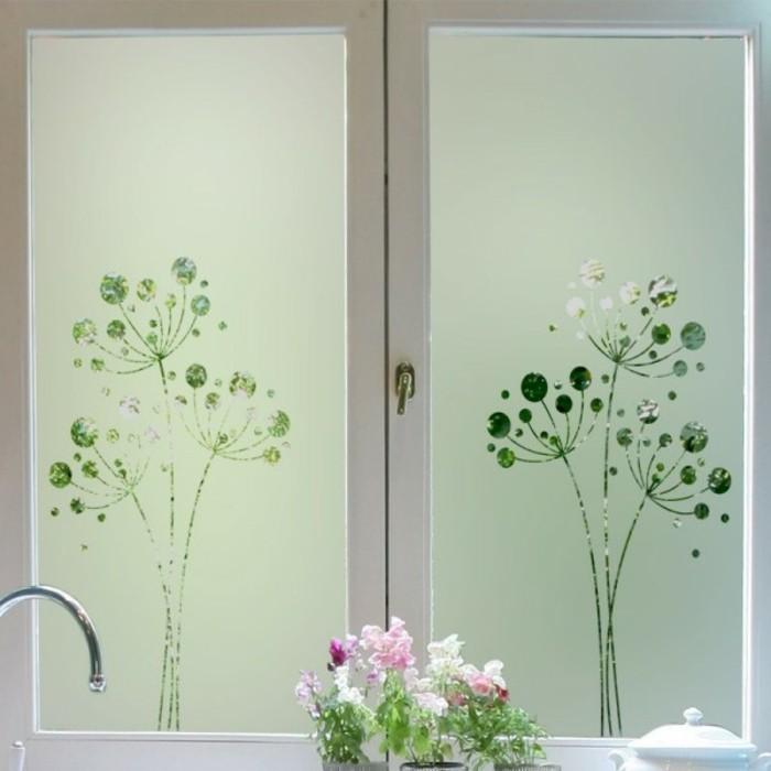 stickers-pour-vitres-en-vert-opaques-depoli-design