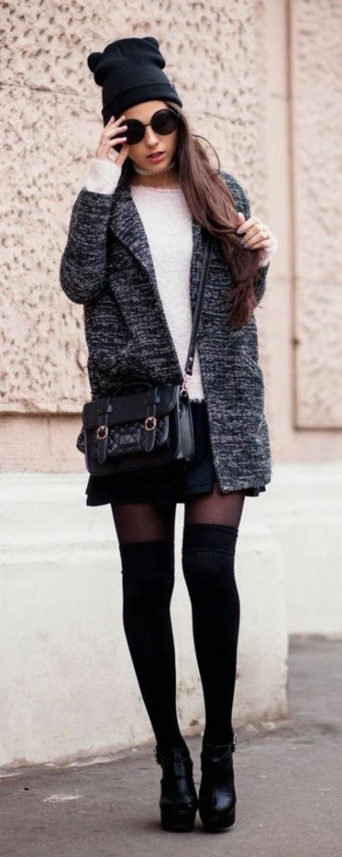 style-casual-large-manteau-jupe-courte-pull-chaud-femme-modele-chaussette-haute-en-coton