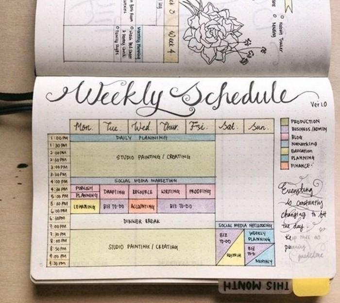 suggestion-de-calendrier-hebdomadaire-schema-de-couleurs-riche-idee-pour-votre-agenda-customise