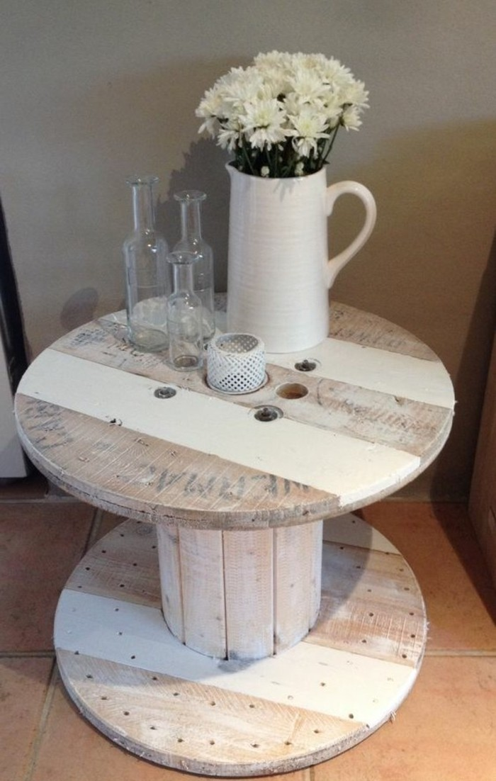 1001 id es que faire avec un touret des inspirations r cup for Table basse fait maison