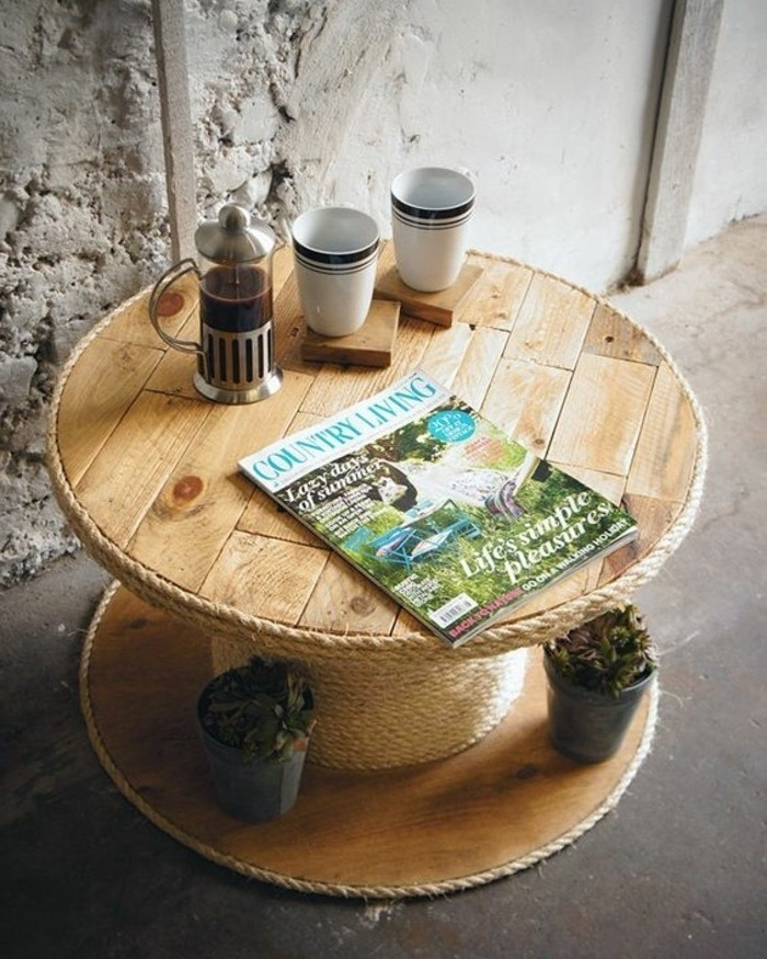 Table Avec Un Touret #13: Table-basse-touret-une-petite-table-a-cafe-