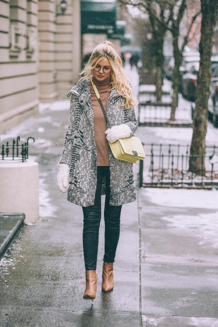tenue-hivernale-manteau-femme-gris-chine