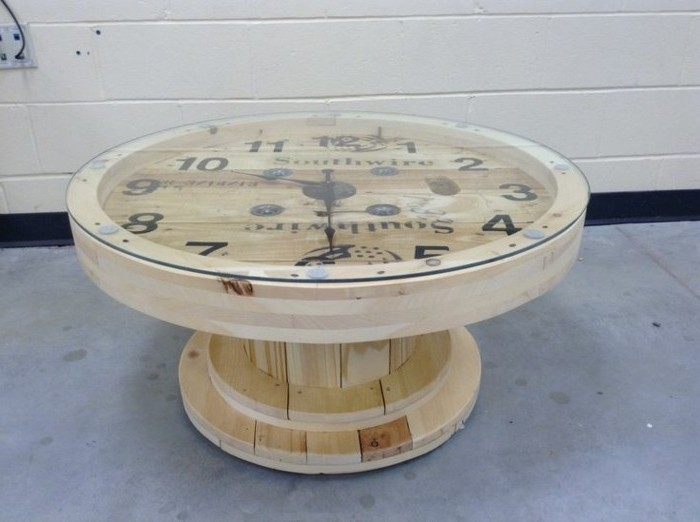 1001 id es que faire avec un touret des inspirations r cup - Customiser une table basse ...