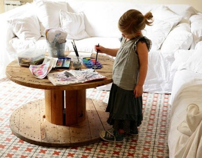 1001 id es que faire avec un touret des inspirations r cup. Black Bedroom Furniture Sets. Home Design Ideas