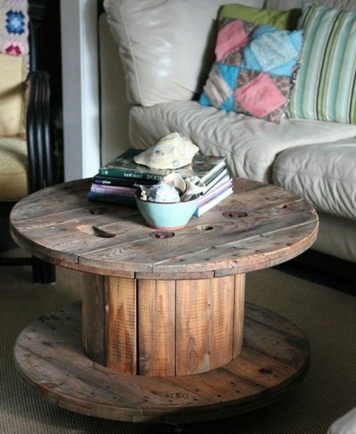 1001 id es que faire avec un touret des inspirations r cup for Customiser une table en bois