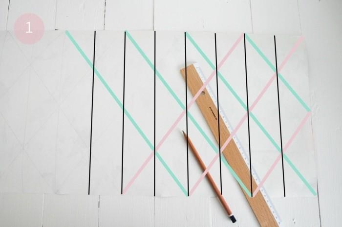 tracer-des-lignes-verticales-et-diagonales-pour-fabriquer-un-abat-jour-soi-meme